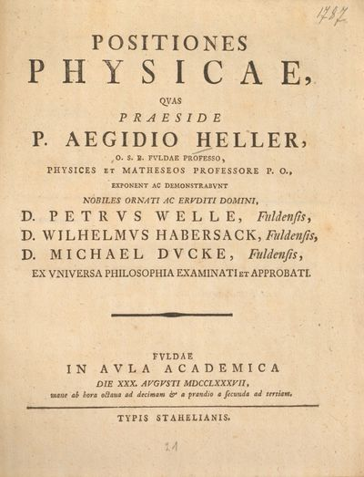Positiones physicae