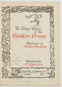 The fairy tales of the brothers Grimm / illustrated by Arthur Rackham ; translated by mrs Edgar Lucas