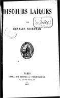 Discours laïques / par Charles Secretan