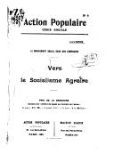Vers le socialisme agraire : le mouvement social dans nos campagnes / Louis Barde