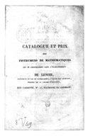 [Recueil. Appareils et instruments scientifiques. Catalogues]