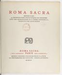 Roma Sacra : édition d'art... / avec une introduction du P. Pierre Sinthern,... ; traduite par Louis Barde