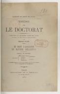 Du droit d'association en matière religieuse... : thèse pour le doctorat... / par Charles Gide ; Faculté de droit de Paris
