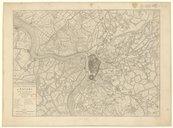 Carte topographique des forts, ville, citadelle d'Anvers et de ses environs / par Jaillot, ,... corrigée en 1832 d'après le plan de Muller