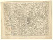 Carte topographique des forts, ville, citadelle d'Anvers et de ses environs / par Jaillot, géographe, corrigée en 1832, d'après le plan de Muller