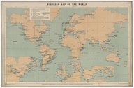 Official wireless map of the world / compiled by Marconi's Wireless Telegraph Company, ...