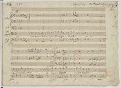 [Così dunque tradisci] (manuscrit autographe) / Wolfgang Amadeus Mozart]