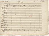 Atto I.mo // Scena I.ma (manuscrit autographe) / Wolfgang Amadeus Mozart