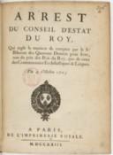 Arrêt du conseil d'Etat qui règle la manière de compter par le Sr Biberon des 14 deniers pour livre, tant du prix des bois du roi que de ceux des communautés ecclésiastiques et laïques