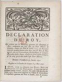 Déclaration... qui ordonne que les receveurs généraux des domaines et bois compteront par bref estat au Sr. Biberon de Cormery, chargé par édit de juillet 1715 du recouvrement des 14 deniers pour livre, tant des boys du Roy que de ceux des communautez ecclésiastiques et laïques, du produit desdits droits... Registrée en la Chambre des Comptes le 9 mars 1731