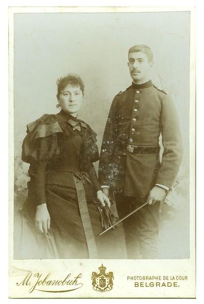 Studio portrait of a couple