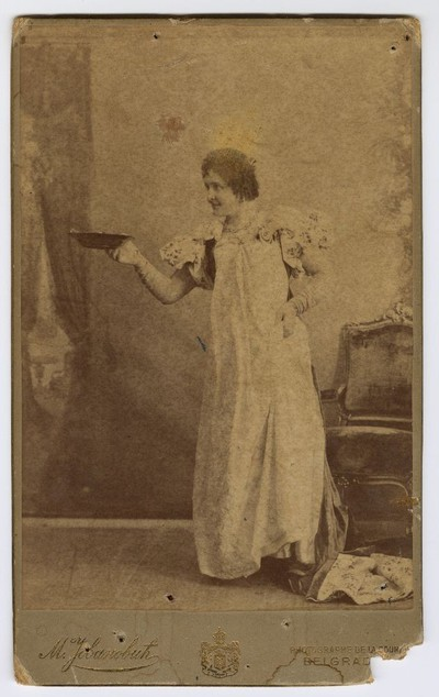 Studio portrait of Vela Nigrinova