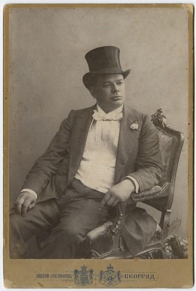 Studio portrait of Milorad Petrović