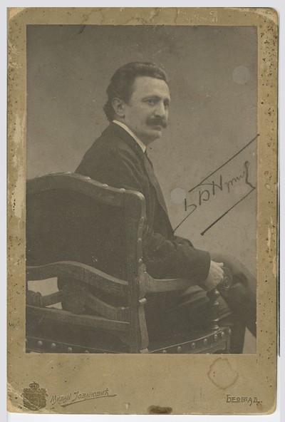 Studio portrait of Branislav Nušić