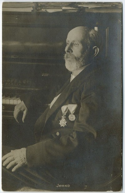 Studio portrait of composer Davorin Jenko