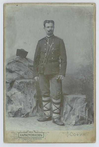 Studio portrait of a man in a uniform