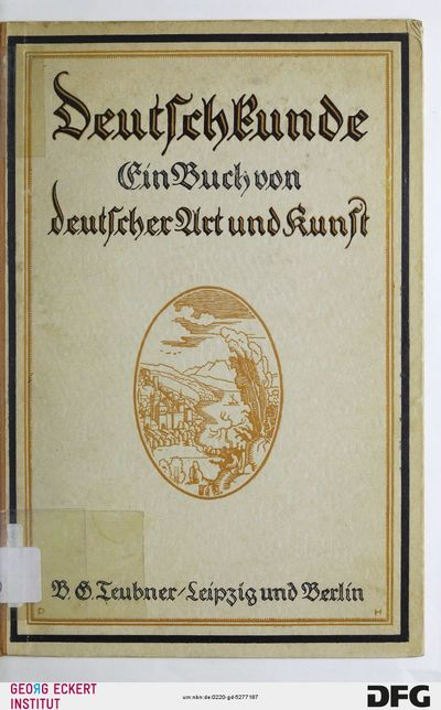 Deutschkunde : ein Buch von deutscher Art und Kunst