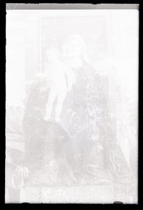 Koper - Stolnica, slika Madone z dvema svetnikoma, fotografija