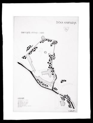 Stare Slemene - Žički samostan (načrt), fotografija