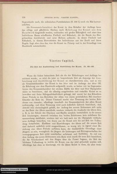 Viertes Capitel. Die Zeit der Ausbreitung und Ausbildung der Kunst.