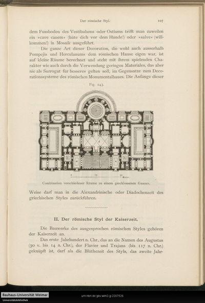 II. Der römische Styl der Kaiserzeit.