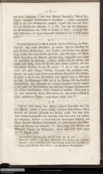§. 8. [Arbeiten für das sächsische Kurhaus, und Belohnung derselben durch die Verleihung des Wappenbriefes 1508]