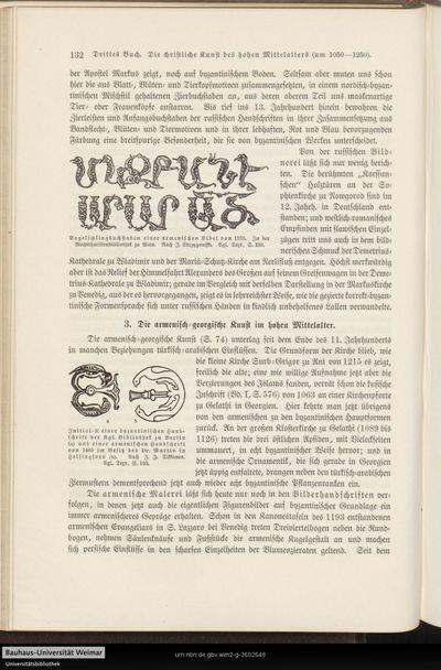 3. Die armenisch-georgische Kunst im hohen Mittelalter.