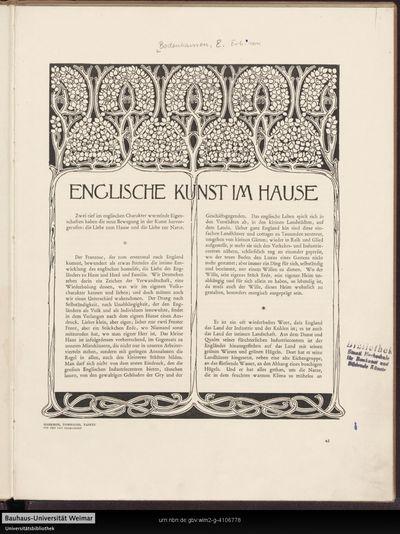 Englische Kunst im Hause
