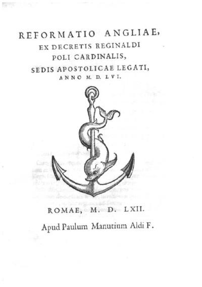 Reformatio Angliae, ex decretis Reginaldi Poli cardinalis sedis Apostolicae legati anno M.D.LVI.
