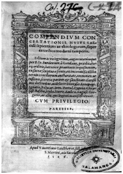 Compendium concertationis, huius saeculi sapientium ac theologorum, super erroribus moderni temporis