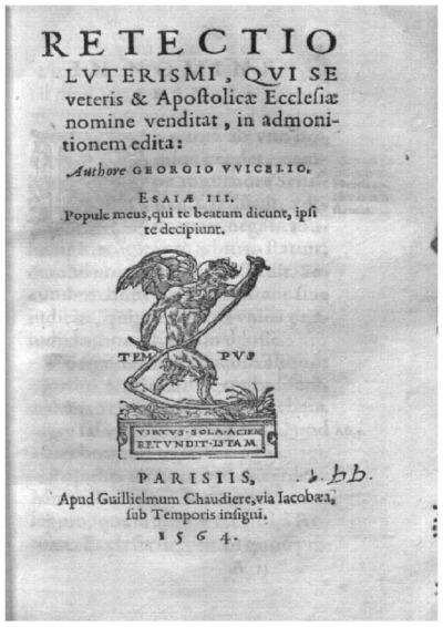 Retectio luterismi, qui se veteris et Apostolicae Ecclesiae nomine venditat, in admonitionem edita