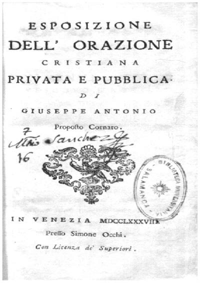 Esposizione dell'orazione cristiana privata e pubblica