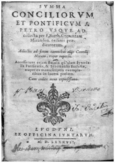 Summa Conciliorum et Pontificum a Petro vsque ad collecta