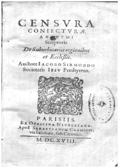 Censura coniecturae anonymi scriptoris de suburbicariis regionibus et ecclesiis