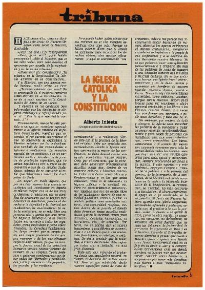 La Iglesia Católica y la Constitución