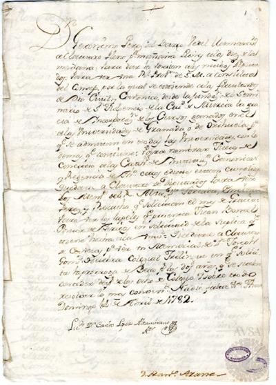 Borrador del Claustro pleno, Claustro de diputados y Claustro de cabezas y catedráticos de propiedad celebrados el 15 de abril de 1782