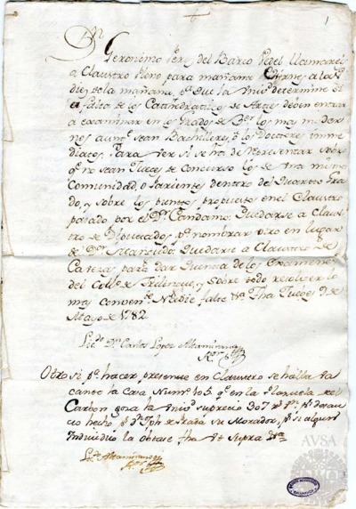 Borrador del Claustro pleno, Claustro de diputados y Claustro de cabezas y catedráticos de propiedad celebrados el 10 de mayo de 1782