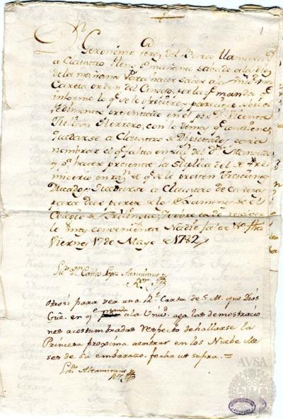 Borrador del Claustro pleno, Claustro de diputados y Claustro de cabezas y catedráticos de propiedad celebrados el 18 de mayo de 1782