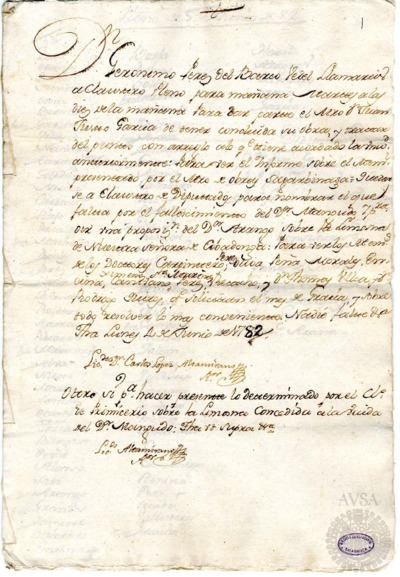 Borrador del Claustro pleno y Claustro de diputados celebrados el 5 de junio de 1782