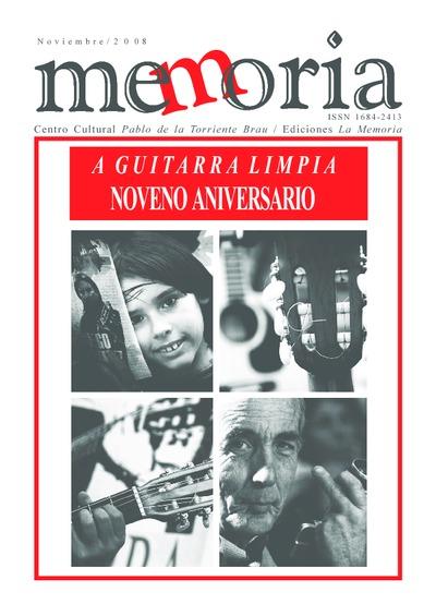Cuaderno Memoria, nov. 2008. Noveno Aniversario A guitarra limpia