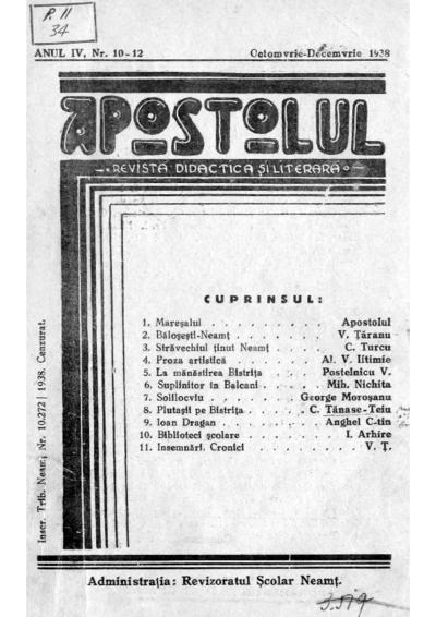 Apostolul Anul IV nr. 10-12
