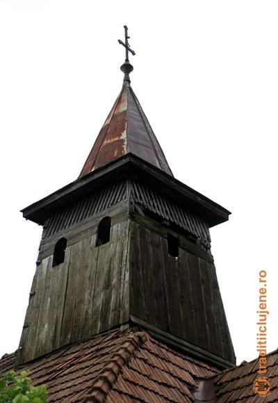 Turnul bisericii de lemn din Gârbău Dejului, jud. Cluj