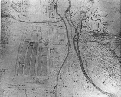 Dealul Cetăţuia (cartierul Gruia). Hartă militară (1718)