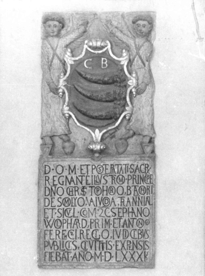 Lespede sculptată şi inscripţionată (1581)