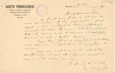 Corespondenţă Ion Clopoţel - Emil Isac