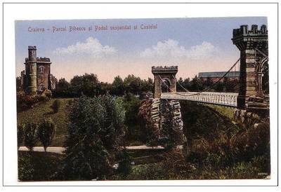 Parcul Bibescu, Podul suspendat şi Castelul