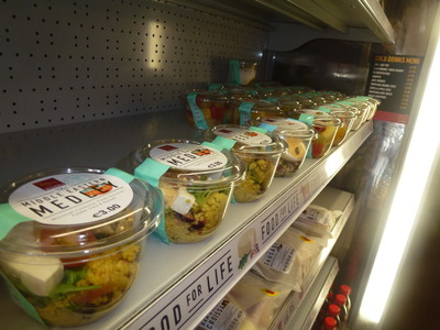 takeaway selection of salad varieties
