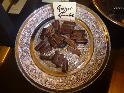 tasting sample of ginger ganache