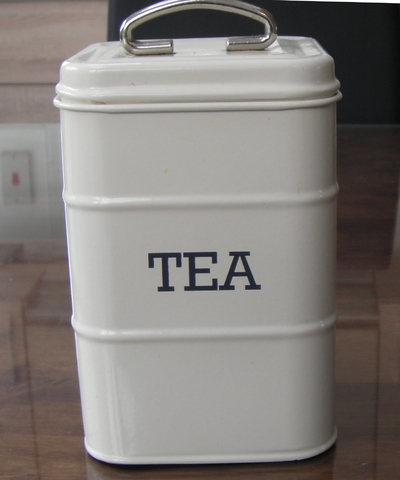 tin for storing tea