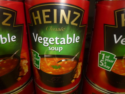 tin of vegetable soup